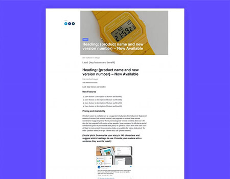 Product-Update-Press-Release-Template