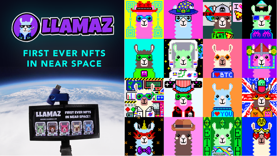 <p>Llamaz Become the First Ever NFTs in Near Space thumbnail